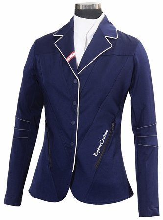 Equine Couture Stars & Stripes Show Coat Ladies Small Navy