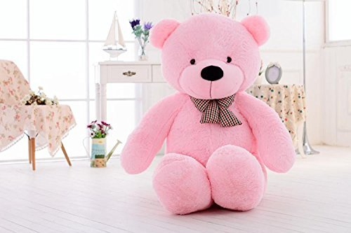 クマぬいぐるみ 100cm 可愛いくま/抱き枕/クマ縫い包み/プレゼント/イベント/お祝い/ふわふわぬいぐるみ ソフト 可愛いぬいぐるみ (100CM, ピンク)