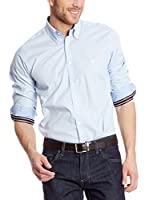 POLO CLUB Camisa Hombre Fitted (Azul)