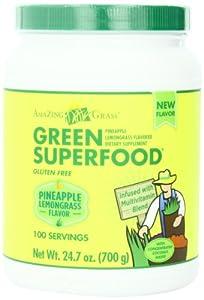 Amazing Grass Green Superfood, Pineapple Lemongrass, 24.7 Ounce