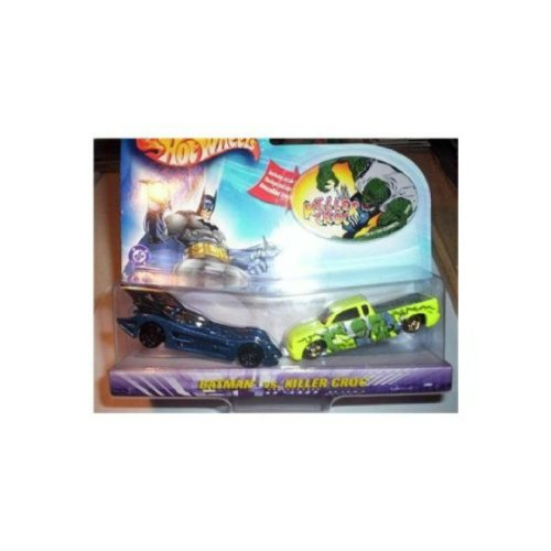 Hot Wheels DC Comics Batman vs Killer Croc 1:64 Scale Die Cast Car 2 Pack Mattel 2003