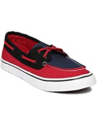 Mast & Harbour Unisex Navy & Red Boat Shoes
