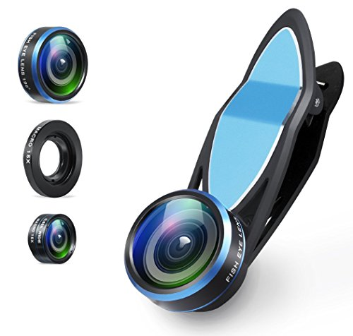 Aperlite-iPhone-Lens-Universal-3-in-1-Lens-Kit-Clip-On-198-Degree-Supreme-Fisheye-063X-Wide-Angle-15X-Macro-Lens-for-iPhone-Samsung-Android-Smartphones