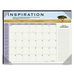 At-A-Glance AAG89801 Monthly Desk Cal- Motivational Panoramic Scenes- 22in.x17in.