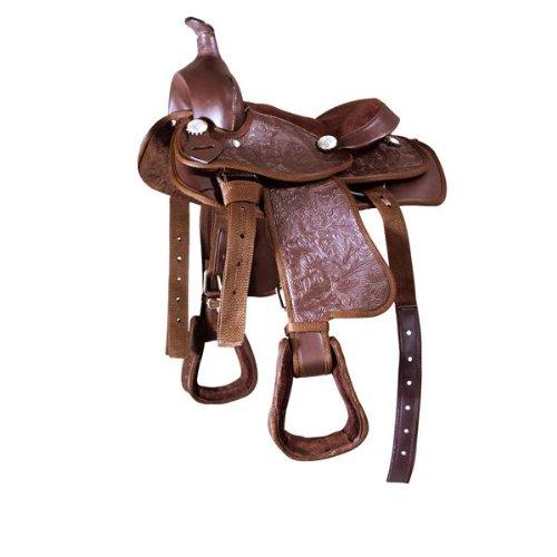 PFIFF Kunststoff-Westernsattel schwarz Pony
