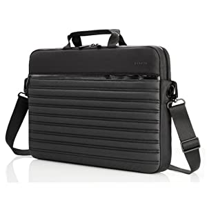 Belkin F8N286qe Stealth Slip Case Water-Resistant Slim Profile Fits up to 13.3-Inch Netbook Notebook Laptop Tablet TouchPad iPad Messenger Bag from Belkin Components