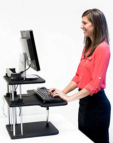 CubeFit Standing Desk - Sit or Stand with Free Fitness Software