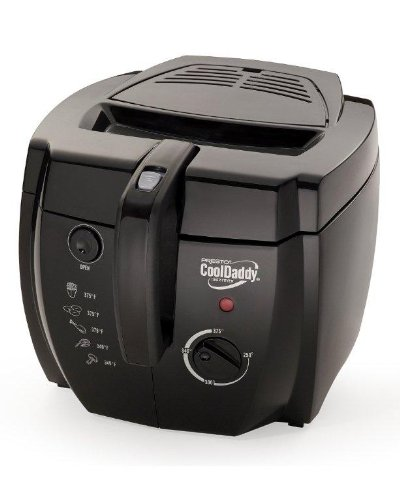 Discover Bargain Presto 05442 CoolDaddy Cool-touch Deep Fryer - Black