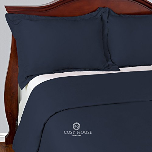 Best Duvet Covers Sets 3 Piece - 100% Microfiber - Most Durable Non-Rip Comforter Covers - Wrinkle-Free and Stain Resistant - Hypoallergenic Bedding Cover by Cosy House(Queen/Full, Navy Blue) (Allergy Duvet Cover King compare prices)