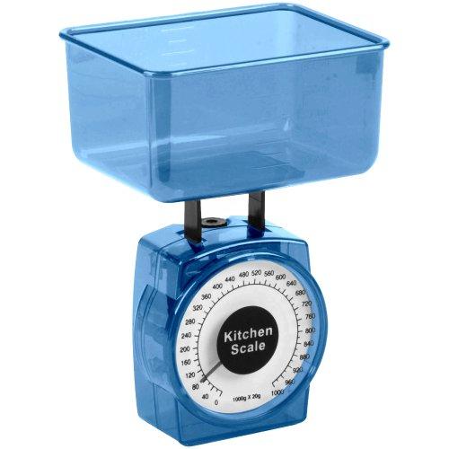 Promobo -Mini Balance Cuisine patisserie Design City Bleu 0 à 1000g à 20g prés