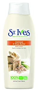 St. Ives Body Wash Oatmeal and Shea Butter, 24 Ounce (Pack of 2)