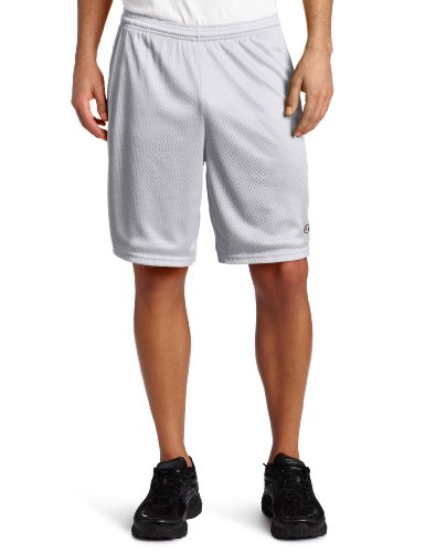 41NrzFBJXPL Champion Mens Lengthy Mesh Brief With Pockets,Athletic Gray,Substantial Critiques