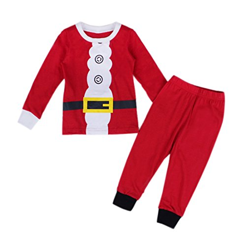 EITC New Kid Boys Girls Christmas pajama T shirt+long pants