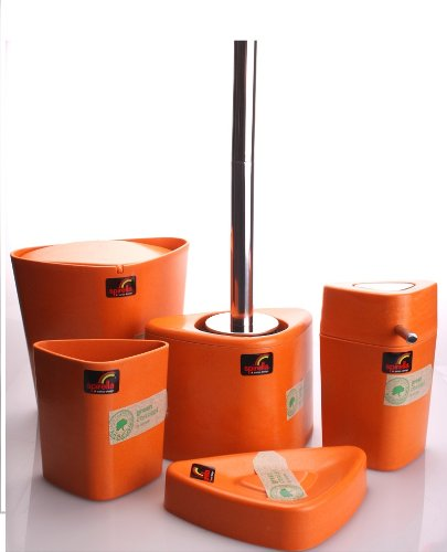 orange bathroom decor On orange toilet accessories