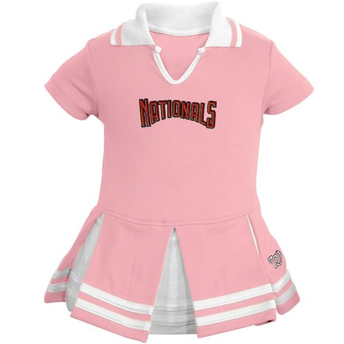 MLB Majestic Washington Nationals Infant Girls Cheer Dress - Pink (12 Months) at Amazon.com
