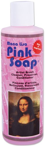 Mona Lisa Pink Soap - 8 Oz. *** Product Description: Mona Lisa Pink Soap - 8 Oz. This Phenomenal Soap Not Only Cleans The Fresh Paint From Your Brushes But The Dried Paint As Well. It Is Also Great For Conditioning And Reshaping Your Brushes. Alo ***