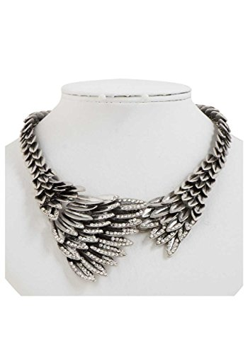 Silver Eagles Wing Necklace Standard
