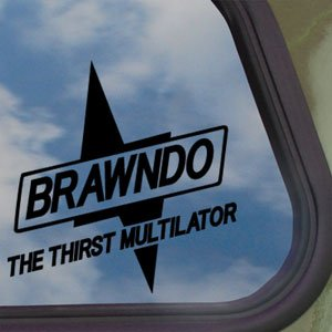 Brawndo Black Decal Bolt Idiocracy Sports Drink Car Sticker