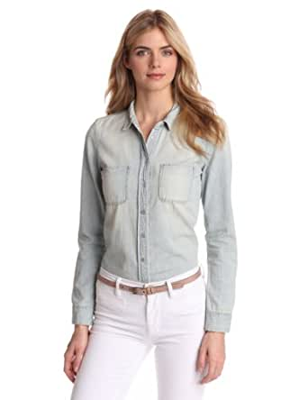 Calvin Klein Jeans Women 39 S Fitted Denim Shirt Light Wash