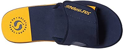 Sole Threads Men's Freeway Navy and Rust Flip Flops Thong Sandals