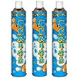 Set of 3 11.6L refill helium fluffy cans