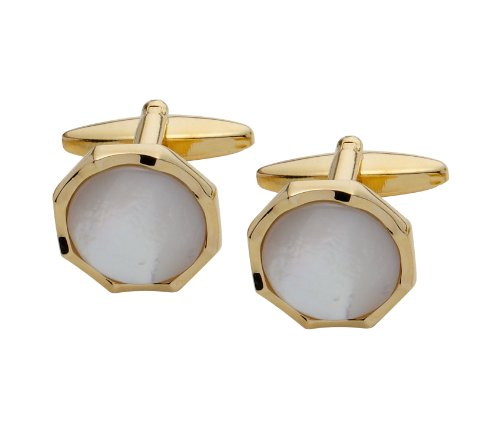 Code Red Gold Plated Mother of Pearl Cufflinks