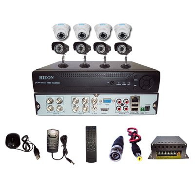 Hieon-HVD804-8Channel-DVR-+-4(800TVL)-IR-Dome-+-4-(800TVL)-IR-Bullet-Cameras-(With-Mouse,-Remote,-Cable,-AV-Pin,-SMPS)