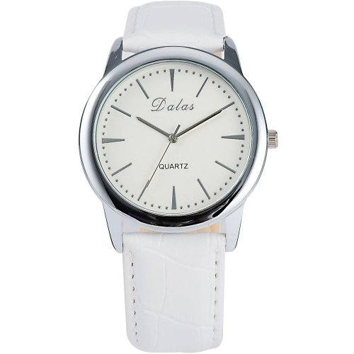 AMPM24 Fashion Women Lady White Leather Sport Quartz Wrist Watch