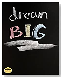 Dream BIG Notebook - Great gift idea for anyone who wants or needs encouragement to pursue their dreams. The text Dream BIG written in colored chalk makes a bold statement on the cover of this blank and college ruled notebook with blank pages on the left and lined pages on the right.