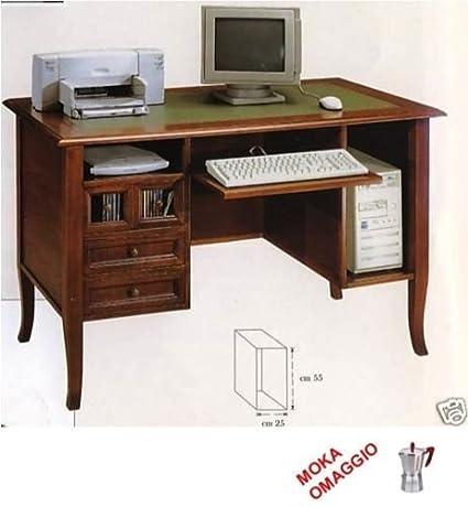 CLASSICO scrivania scrittoio 3 cassetti piano in legno per studio e sala 203 130x74x81