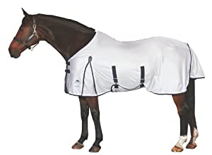WeatherBeeta Airflow Standard Neck Fly Sheet - Size:78 Color:Silver/Navy/White