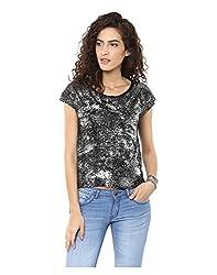 Yepme Women's Black Polyester Tops/Blouses - YPMTOPS1072_XL