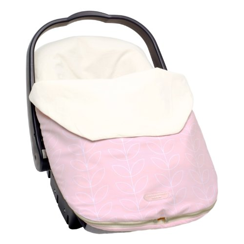 JJ Cole Bundleme Lite, Pink Leaf, Infant (Discontinued by Manufacturer) (Discontinued by Manufacturer)