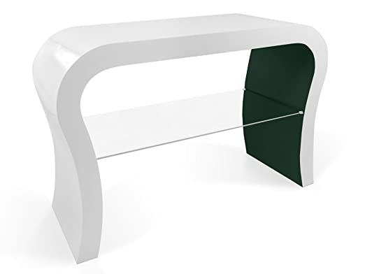 Retro Design TV Stand with Glass Shelf in Various Colours