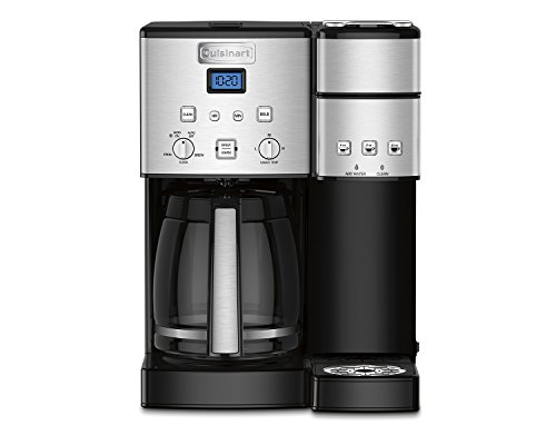 Cuisinart SS-15 12-Cup Coffee Maker and Single-Serve Brewer, Stainless Steel (Cuisinart Keurig Coffee Machine compare prices)