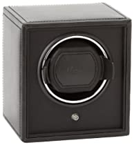 Wolf Designs 455202 Cub Series Module 1.8 Single Watch Winder, Black