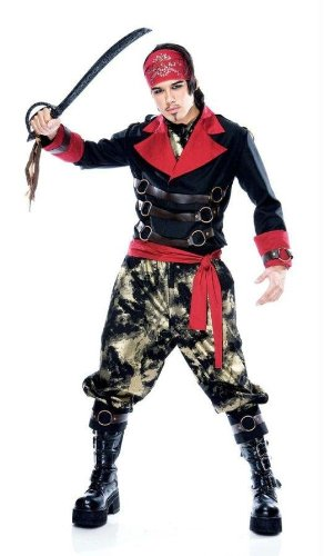 Costumes For All Occasions Pm789010 Apocalyspe Pirate Mens Medium