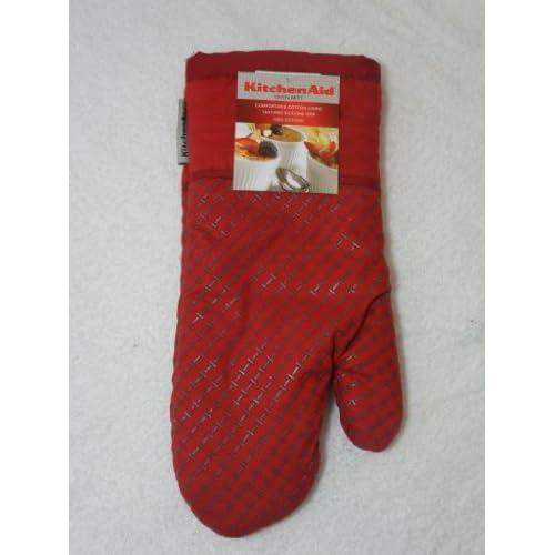 Kitchenaid oven mitt dark red - Kitchenaid oven gloves ...