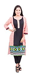 Krivi By Kk Women's Cotton Kurti (KRV-06-B_Multi-Coloured_M)