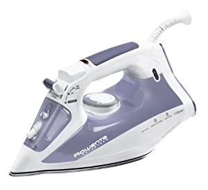 Rowenta DW4060 Auto Steam Iron with Airglide Stainless Steel Soleplate Auto-off Anti-Scale, 1700-Watt, Blue