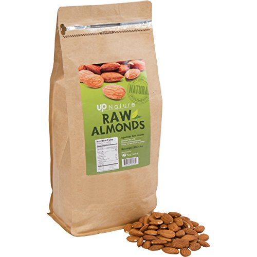 UpNature Raw Almonds - 2.5 Lbs. Fresh Quality Nuts - 100% All Natural - Packed with Nutrients - Delicious and Healthy Snacks - Steam Pasteurized - Savory Non-GMO Snacks - Kosher Food (Almonds Steam compare prices)