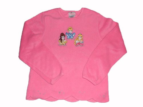 Principesse Disney - da Disney Store - maglia in pile - rosa - Cinderella - Belle - Aurora - misura circa 140 (us M) - dagli USA