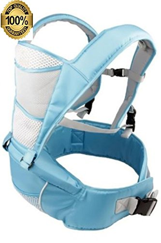 Buy Discount Babi Bambino Best Baby Carrier Front Kangaroo Sling Backpack Soft Hip Seat (Blue)