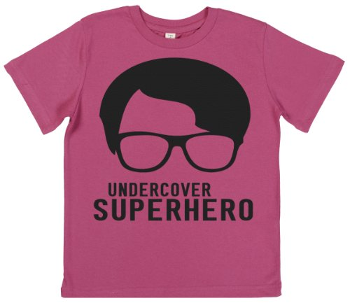 Phunky Buddha - Under Cover Superhero Girl'S Top 9-10 Yrs - Pink front-560941