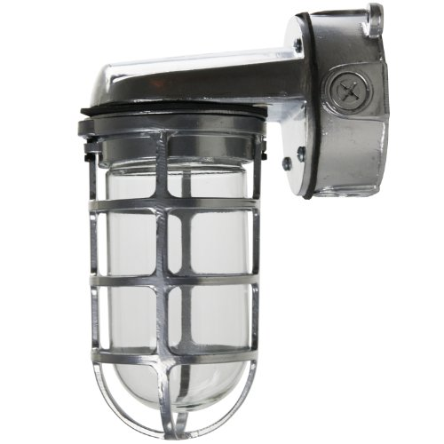 Sunlite VTA100 5.5-Inch 150 Watt Vapor Proof Vandal Proof Outdoor Fixture, Metallic Finish Clear Glass