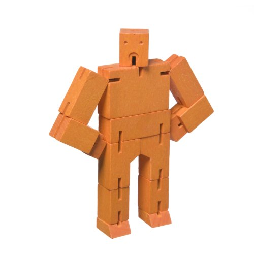 Micro Cubebot Brain Teaser Puzzle, Orange