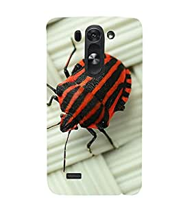 printtech Nature Bug Red Back Case Cover for LG G3 Beat / LG G3 Vigor / LG G3s /LG g3s Dual