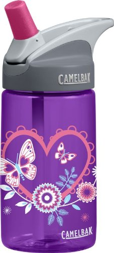 Camelbak Products Kid's Eddy Water Bottle, Hearts, 0.4-Litre