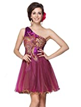 HE03607PP10, Purple, 8US, Ever Pretty Elegant Short Club Dresses Women 03607