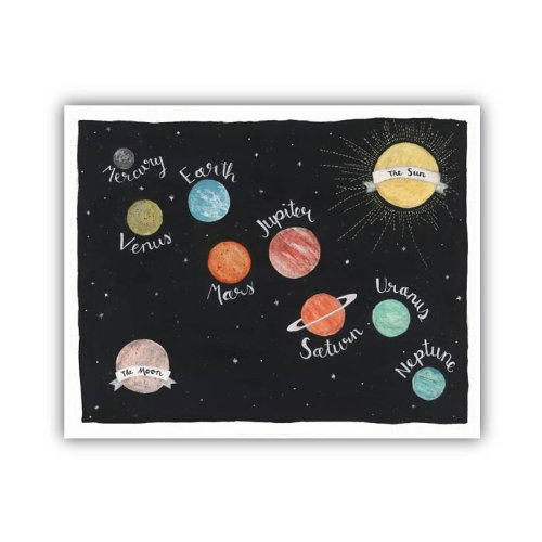 "Lucy Darling Galaxy Solar System Print Wall Decor, 8"" x 10"""